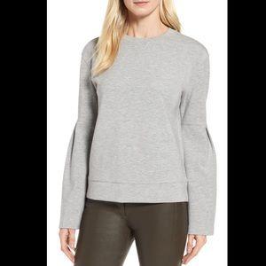 NWOT Nordstrom Signature grey sweater sz L
